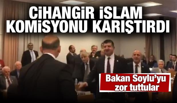 SP'li Cihangir İslam komisyonu karıştırdı! Bakan Soylu'yu zor tuttular
