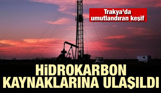 Trakya'da umutlandıran keşif: Hidrokarbon kaynaklarına ulaşıldı