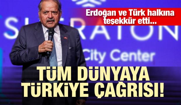 Tüm dünyaya Türkiye çağrısı! Erdoğan ve Türk halkına teşekkür etti...