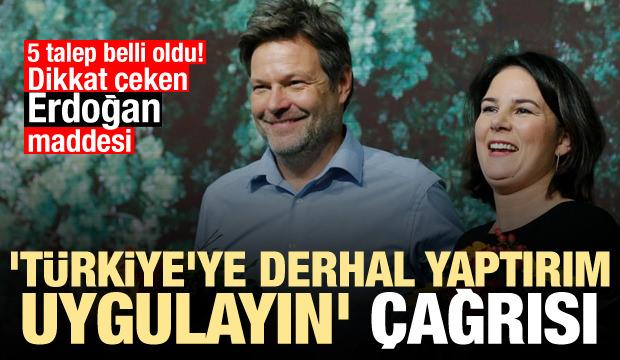 'Türkiye'ye derhal yaptırım uygulayın' çağrısı! Erdoğan maddesi