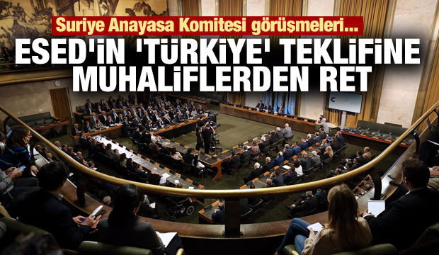 Esad'in Cenevre'de Türkiye'yi kınama önerisine muhaliflerden ret