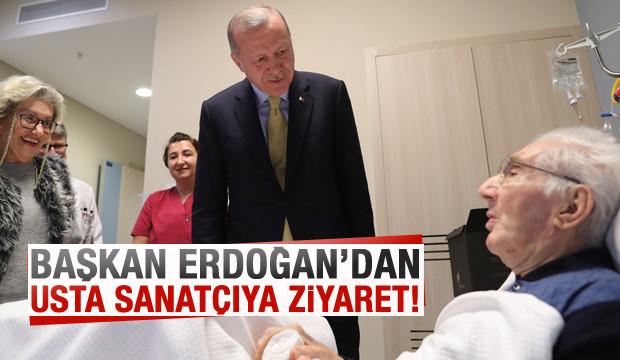 Başkan Erdoğan'dan usta sanatçıya ziyaret