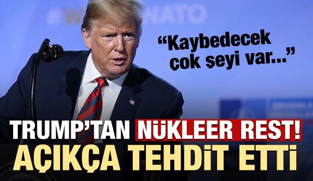 Donald Trump, Kim Jong-un'u açıkça tehdit etti!