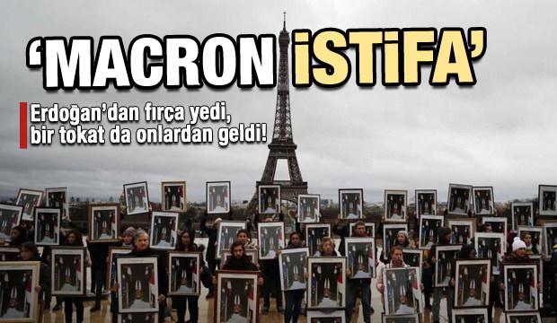 Fransa'da kargaşa sürüyor! Macron'un istifasını istediler