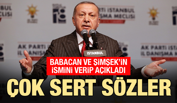 Son dakika: Erdoğan, Babacan ve Şimşek'in adını verip sert çıktı