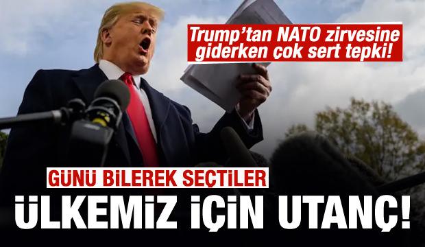 Trump NATO zirvesine giderken konuştu: Ülkemiz için bir utanç!