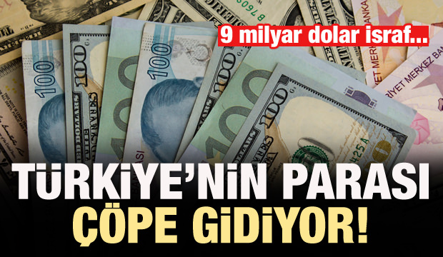Türkiye'nin parası çöpe gidiyor! 9 milyar dolar israf