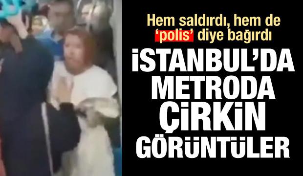 İstanbul'da çirkin görüntüler! Hem saldırdı, hem de polis diye bağırdı