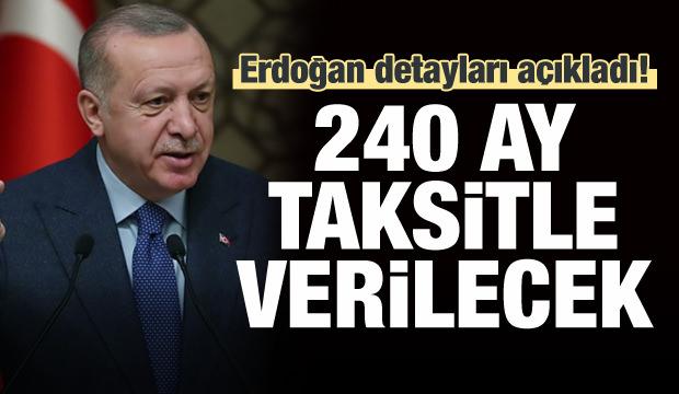 Erdoğan, 100 bin sosyal konut projesinin detaylarını açıkladı
