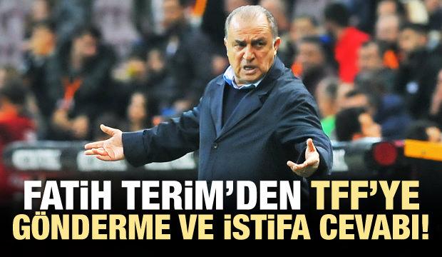 Fatih Terim'den maç sonu TFF'ye gönderme ve istifa cevabı!