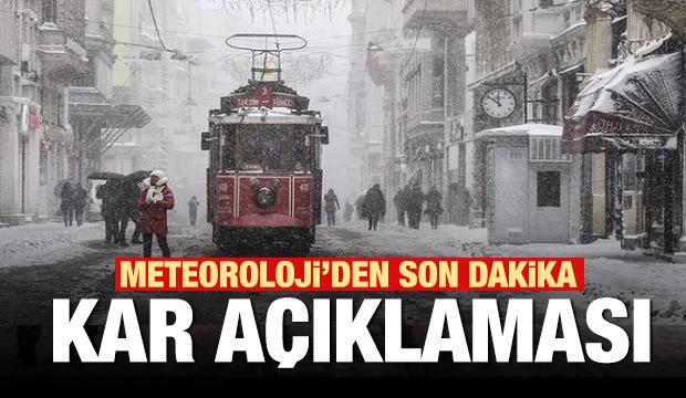 İstanbul için son dakika kar yağışı açıklaması