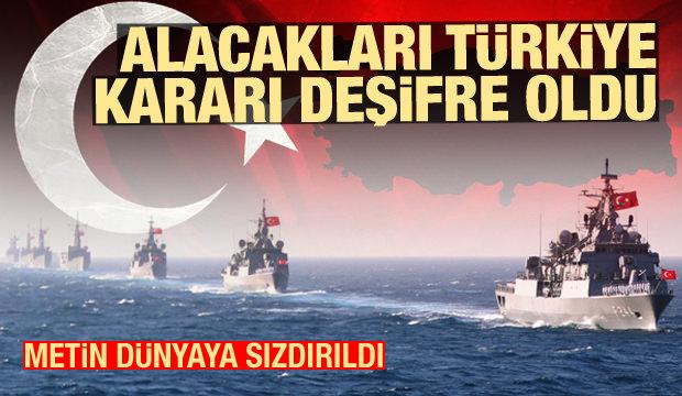 Son Dakika: Metin sızdırıldı! Alacakları Türkiye kararı deşifre oldu