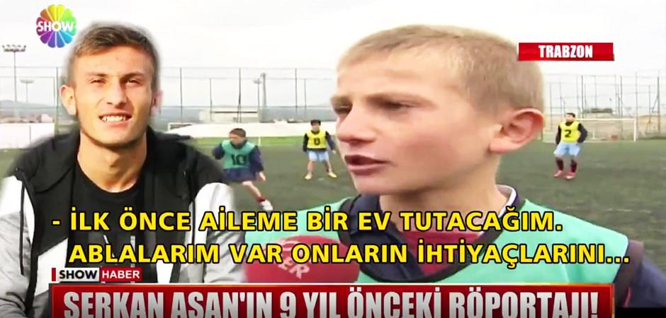 Trabzonsporlu Serkan Asan'ın 9 yıl önceki röportajı ortaya çıktı