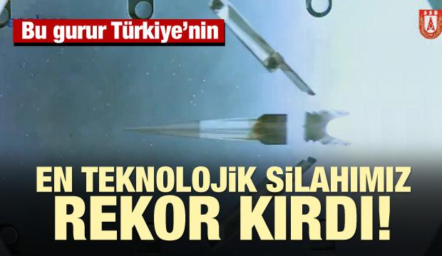 Türkiye'nin en teknolojik silahı TUFAN rekor kırdı