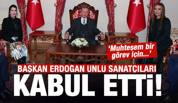 Hande Yener ve Demet Akalın'dan Erdoğan'a ziyaret