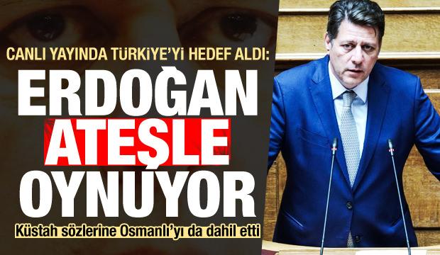 Canlı yayında Osmanlı üzerinden Türkiye'ye saldırdı: Erdoğan ateşle oynuyor
