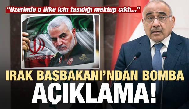 Son dakika haberi: Irak Başbakanı'ndan çarpıcı Süleymani açıklaması!