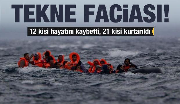 Yunanistan'da tekne faciası: 12 kişi öldü