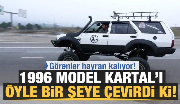 Baba yadigarı 1996 model Kartal'ı off-road cipine çevirdi!