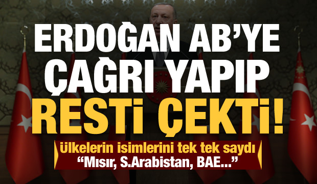 Erdoğan'dan son dakika Libya açıklaması! AB'ye çağrı yapıp resti çekti...