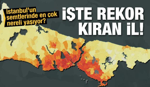 İstanbul'un semtleri bakın nereli çıktı