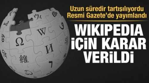 Son Dakika Haberi:  Anayasa Mahkemesi'nden Wikipedia kararı