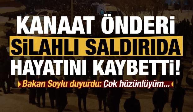 Son dakika: Kanaat önderi Seyda Abdülkerim Çevik silahlı saldırıda öldürüldü!