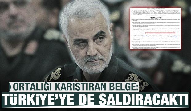 Ortalığı karıştıran belge yayımlandı: Süleymani, Türkiye'ye de saldıracaktı
