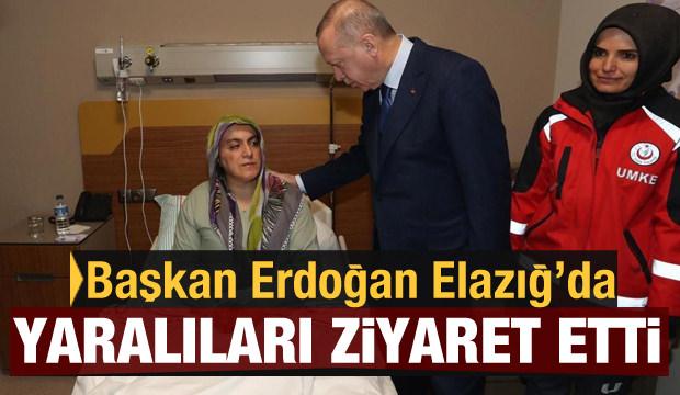 Başkan Erdoğan, Elazığ'da hastane ziyaretinde bulundu