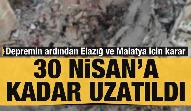 Depremin ardından Elazığ ve Malatya için karar! (26 Ocak 2020 Günün Önemli Gelişmeleri)