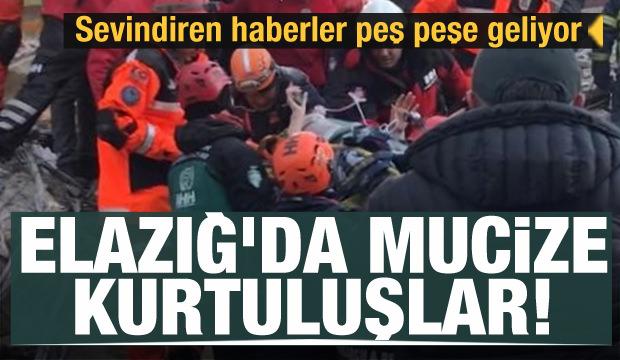 Elazığ'dan haberler peş peşe geliyor! Depremden mucize kurtuluşlar