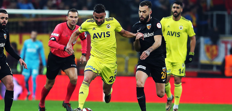 Fenerbahçe - Kayserispor! Maçta ilk yarı! CANLI