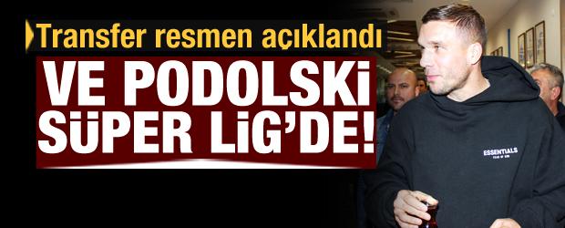 Lukas Podolski resmen Antalyaspor'da!