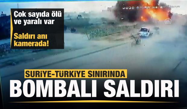 Suriye-Türkiye sınırında bombalı saldırı