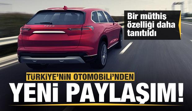 Türkiye'nin Otomobili'nden yeni video! Müthiş özellik...