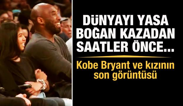 İşte Kobe'nin ekranlarda görüldüğü son an!