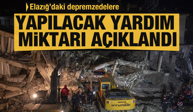 Elazığ'da son dakika açıklama: Depremzedelere yapılacak yardımlar açıklandı