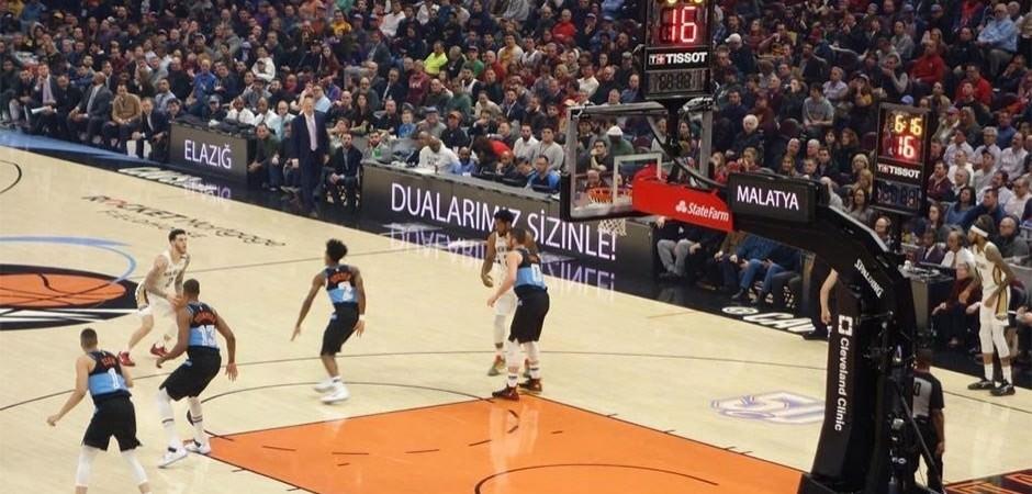 NBA maçında Elazığ ve Malatya'ya destek!