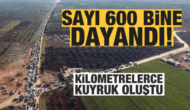 Rejimin saldırısından kaçanların sayısı 600 bine dayandı