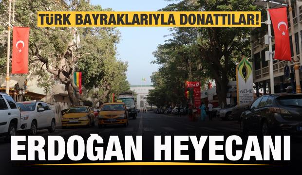 Şehri Türk bayraklarıyla donattılar! Erdoğan heyecanı