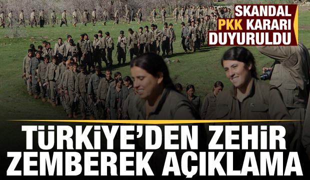 Skandal PKK kararı Türkiye'yi ayağa kaldırdı! Zehir zemberek açıklamalar