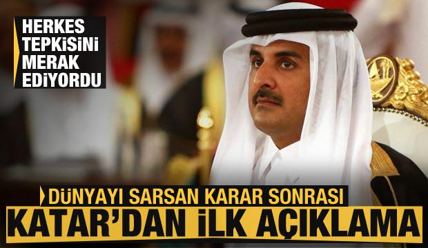Herkes Şeyhin tepkisini merak ediyordu! Dünya sarsıldı, Katar'dan flaş açıklama