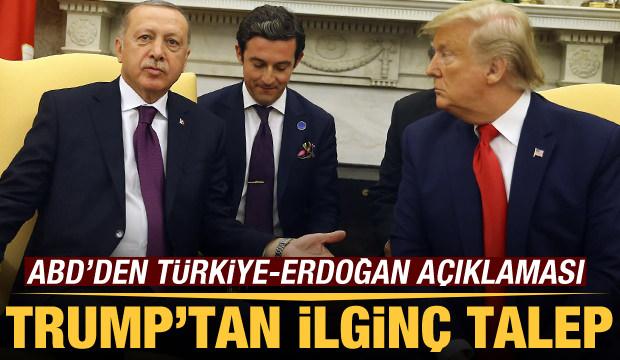Son Dakika: Trump'tan Türkiye'ye bi' acayip öneri! Bizzat Erdoğan'dan talep etti