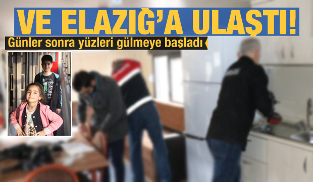 TCDD'nin yardım treni Elazığ'da
