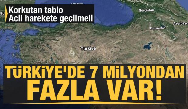 Türkiye'de 7 milyondan fazla var! Korkutan tablo acil harekete geçilmeli