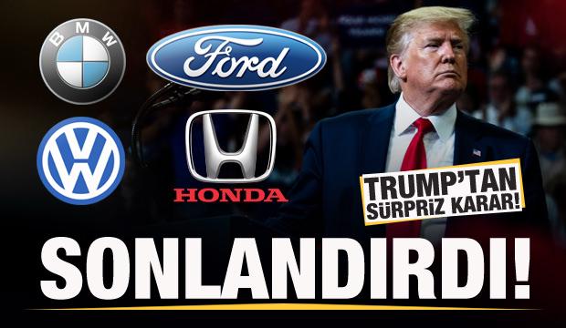 Trump'tan otomotiv devleriyle ilgili önemli karar!