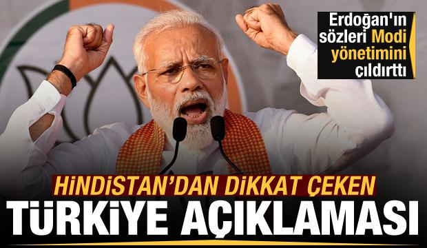Erdoğan'ın sözleri Hindistan'ı fena kızdırdı! Çok çarpıcı Türkiye açıklaması