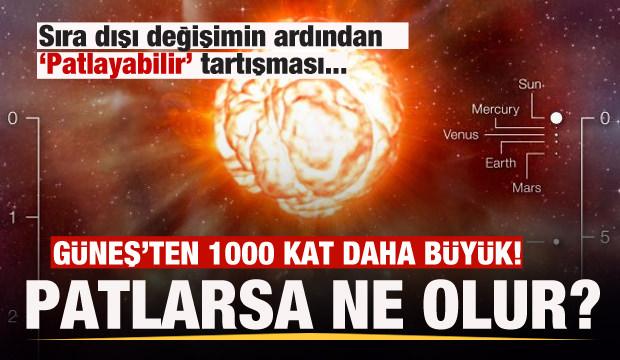 Güneş'ten 1000 kat büyük olan Betelgeuse yıldızı patlayacak mı? Patlarsa ne olur?