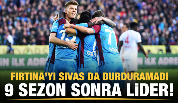 Trabzonspor 9 sezon sonra lider!