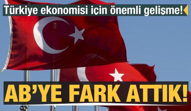 Türkiye ekonomisi için önemli gelişme! AB'ye fark attık
